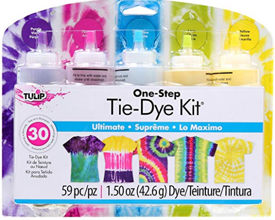 http://allkidscanlearn.school.blog Tulip One-Step 5 Color Tie-Dye Kits Ultimate, 1.5oz