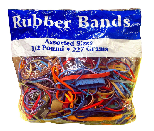 http://allkidscanlearn.school.blog Alliance Rubber Bands Assorted Dimensions 227G/Approx. 400 Rubber Bands, Multi Color, 1/2 lb